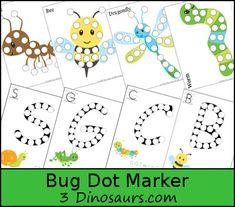 Free Bug Dot Marker Printables - 3Dinosaurs.com