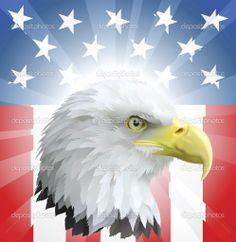 patriotic pictures of america | Patriotic American Eagle and Flag - Stock Illustration