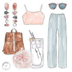 Good objects - 27 degrees in Colonia with @iarasnei and @eterateco ☀️ #goodobjects #watercolor #illustration