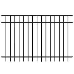 FREEDOM Black Aluminum Fence Panel (Common: 48-in x 72-in; Actual: 47.25-in x 72.37-in)