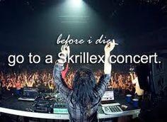 Before I die I must go to a Skrillex concert
