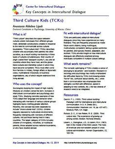 Key Concepts in Intercultural Dialogue #12: Third Culture Kids