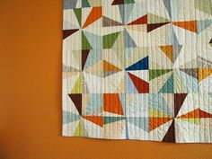 the big orange wall quilt by Spotted Stone Studio {Krista}, via Flickr