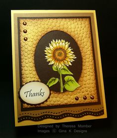 Crafting The Web: Autumn Beauty ...gorgeous handmade card ... like the coloring on the embossed area of the frame ... Theresa Momber tutorial ... GinaK stamps ...