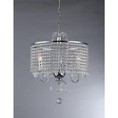 Warehouse of Tiffany Elija 3-Light Chrome Crystal Chandelier-RL8310 at The Home Depot