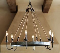 Pottery Barn  Chandelier $384 on sale -33 inches wide 28 inches tall