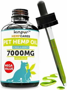 Hemp Oil for Dogs & Cats - 60 - Anxiety Relief for Dogs & Cats - Pet Hemp Oil - Supports Hip & Joint Health - Grown & Made in USA - Natural Relief for Pain - Omega 6 & 9 Dog Illnesses, Oils For Dogs, Anxiety Relief, Pain Relief, Dog Feeding, Pet Grooming, Hemp Oil, Pet Health, Dog Care