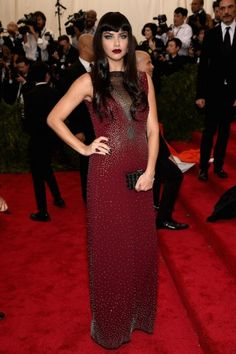 Adriana Lima at the Met Gala 2015. Click on the image to see more looks.