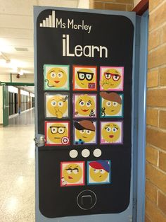 Check out our awesome emoji classroom door my co-workers and I put together.