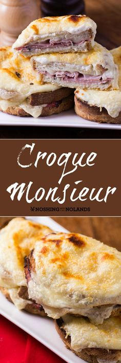 Croque Monsieur by Noshing With The Nolands is a luscious cheesy sandwich made with Armstrong cheese! Your family is going to want you to make up a pan today!