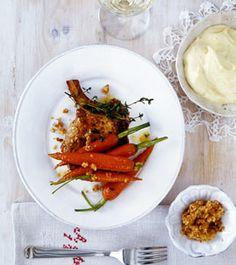 Möhren in Ahornsirupbutter mit Koteletts - Rezepte - [LIVING AT HOME]