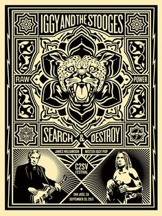 """""""Iggy and The Stooges – San Jose, CA 2013″ by Shepard Fairey"""