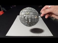 ▶ Levitating Stone Ball, 3D Drawing, Time Lapse - YouTube