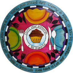 Hand Painted Lazy Susan,