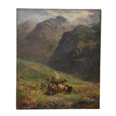 I pinned this Antique Scottish Landscape Painting from the Montelimar Treasure event at Joss and Main!