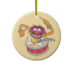 Animal Crashing Through Drums Ornament