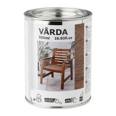 IKEA - VÅRDA, Teinture bois, extérieur, brun, , Protège la surface et ajoute une finition brillante préservant l'expression naturelle du bois.