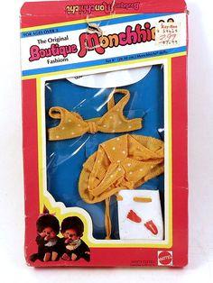 Original Boutique Monchhichi SUN BATHER Clothes in Box