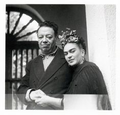 Frida Kahlo and Diego Rivera~Image from the personal collection of Rosa Covarrubias.