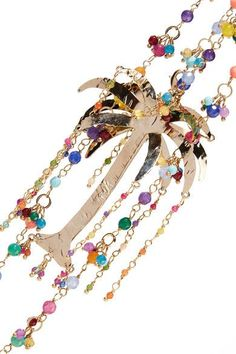 Rosantica - Rosarietto Amore Gold-tone Beaded Necklace - one size