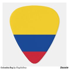 Shop Colombia flag guitar pick created by FlagGallery. Colombian Flag, Guitar Accessories, Guitar Picks, Succulents Diy, Travel Quotes