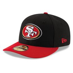 New Era San Francisco 49ers Black/Scarlet 2T Patched Low Profile 59FIFTY Fitted Hat