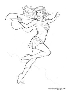 pin by damien stanley on supergirl coloring pages | pinterest ... - Supergirl Coloring Pages Kids