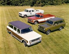 International Scout, Travelall and Travelette Trucks by Wisconsin Historical Images, via Flickr