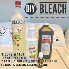 Bleach with essentially oils Essential Oil Cleaner, Essential Oils Cleaning, Lemon Essential Oils, Essential Oil Uses, Natural Essential Oils, Natural Oils, Going Natural, Homemade Cleaning Products, Natural Cleaning Products