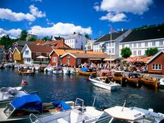 Kragero, Norway. This city is in the south of Norway. It's a pretty tourist destination.