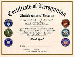 Magnificent army certificate of appreciation template pictures military wife appreciation certificate veterans day pinterest yadclub Gallery