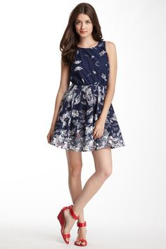 Cutout Printed Dress by Lavand on @HauteLook