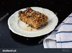 Cake with millet and apples with honey http://www.shutterstock.com/g/EwelinaBanaszak?rid=1926671 http://submit.shutterstock.com/?ref=1926671