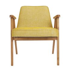 366 Concept armchair Loft 05 Mustard Dark Oak front Reception Furniture, Minimalist Office, Reception Seating, Retro Furniture, Mid Century Design, Wood Colors, Modern Chairs, Solid Wood, Accent Chairs