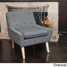 Christopher Knight Home Reese Tufted Fabric Retro Chair - Overstock™ charcoal $240