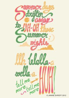 Day 7- A Song From A Great Old Movie  Summer Nights- Grease- Olivia Newton John and John Travolta