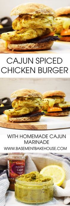 A tender syn free Cajun Spiced Chicken Burger made using a homemade Cajun marinade for extra flavour on Slimming World!