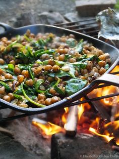 Middle Eastern Spiced Camp Fire Chickpeas by Elizabeth's Kitchen Diary