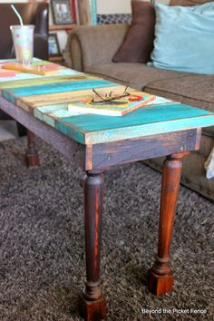 How to Build a Reclaimed Wood Bench/Coffee Table Reclaimed Wood Coffee Table, Reclaimed Wood Projects, Reclaimed Barn Wood, Diy Wood Projects, Wood Crafts, Woodworking Projects, Woodworking Furniture, Rustic Furniture, Painted Furniture