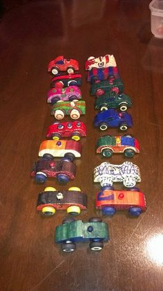 Everyone invited to this lucky 2-yr olds party was given a wooden car to decorate and sign!  They are now the favorite toys, and an everlasting memory for the birthday boy!