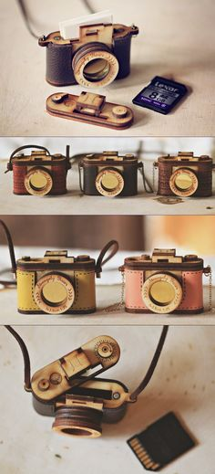 Retro camera https://www.etsy.com/listing/168944806/wood-and-leather-camera-locket-version?ref=related-1