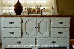 Chalk Paint Dresser refinish...Poptarts and Paintbrushes: Vintage Dresser Redo