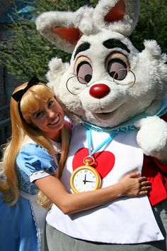 Alice in Wonderland with Mr White Rabbit..... when did Mr Rabbit have a watch with him for meet and greets?