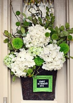 St. Patty's/Spring Floral Container