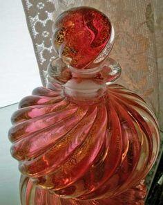 perfume bottle-Murano pink
