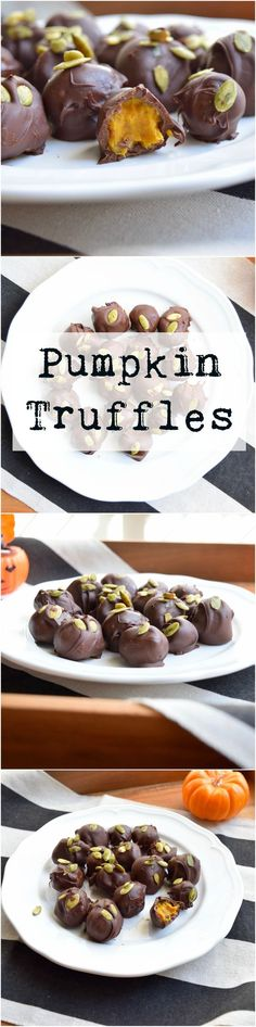 Vegan pumpkin truffles. So easy and super delicious!