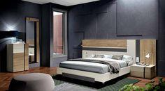 MUEBLES MUÑOZ - dormitorios actuales CATALOGO 5 Double Bed Designs, Camas King, Double Beds, Cot, Door Design, Home Renovation, Interior Decorating, Doors, Bedroom