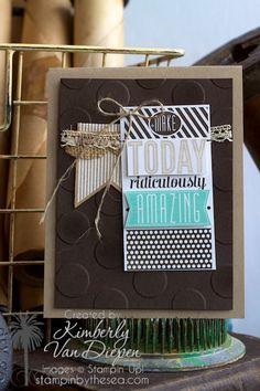 Amazing Birthday stamp set | Stampin' Up! :: StampinByTheSea.com Birthday handmade cards, Stampin' Up!