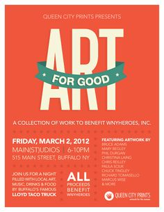 Poster Design for Charity Art Event