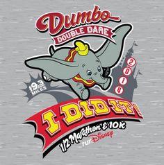 "2014 Dumbo Double Dare ""I Did It"" Shirt | Disneyland Half Marathon Weekend | Running At Disney #runDisney #DisneylandHalf #DumboDoubleDare"